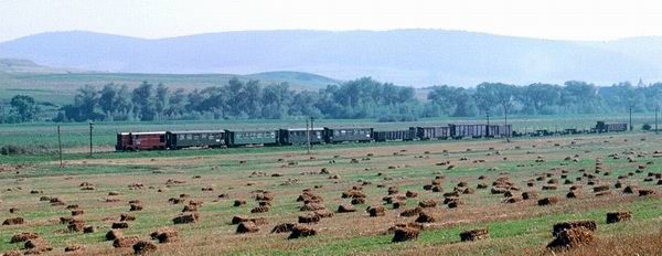 Diesel haulage in the Hartibaciu Valley